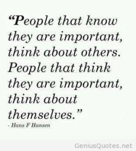 U think U important